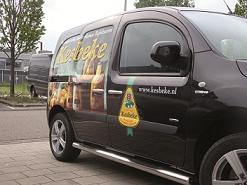 Autobelettering in Amsterdam door Drukkerij Koopmans
