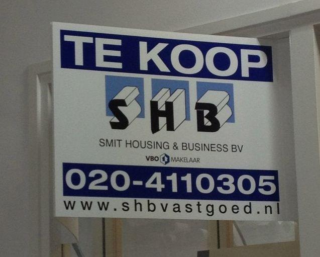 Makelaarsbord Drukkerij Koopmans